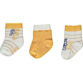 Bebetto S297 Holiday 3'lü Bebek Çorap Oranj 0-3 Ay (56-62 Cm) Kız Bebek Çamaşırı
