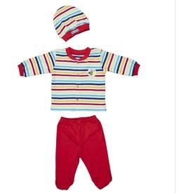 Bebepan 1697 Mr.fish Bebek Pijama Takımı Orjinal Renk 9-12 Ay (74-80 Cm) Erkek Bebek Pijaması