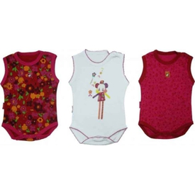 Bebepan 1090 Smıle 3'lü Bebek Atlet Body Orjinal Renk 6-9 Ay (68-74 Cm) Erkek Bebek Body