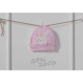 Caramell Spk2603 First Rabit Bebek Şapka 3 Ay Pembe Şapka, Bere, Kulaklık