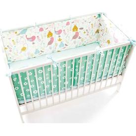 Funna Baby Floral Bebek Yan Koruma Seti Yeşil 70x130 Uyku Setleri