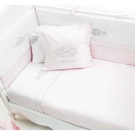 Funna Baby Princess 8 Parça  Pembe 80x140 Bebek Uyku Seti
