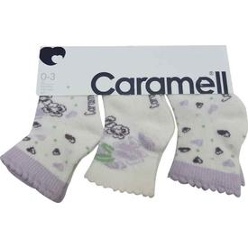 Caramell 2830 Bebek 3lü Soket Çorap Lila 0-3 Ay (56-62 Cm) Kız Bebek Çamaşırı