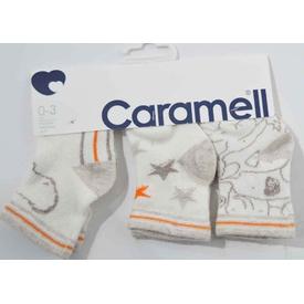Caramell 2825 Bebek 3lü Soket Çorap Ekru-bej 0-3 Ay (56-62 Cm) Erkek Bebek Çamaşırı