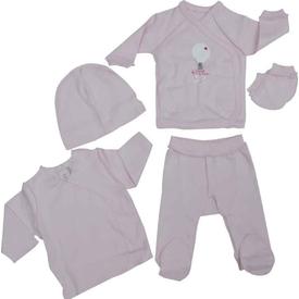 Caramell 2581 Bebek Hastane Çıkış Seti Pembe 00 Ay (prematüre) Kız Bebek Hastane Çıkışı