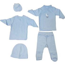 Caramell 2587 Bebek Hastane Çıkış Seti Mavi 00 Ay (prematüre) Erkek Bebek Hastane Çıkışı
