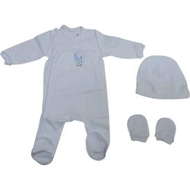 Caramell 2586 Bebek Tulum Set Beyaz 00 Ay (prematüre) Bebek Tulumu