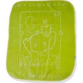 Caramell 2808 Bebek Vizon Battaneyi Yeşil Bebek Battaniyesi