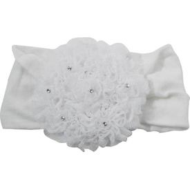 Artı Çorap Artı 19000 Junıor Baby Bebek Aksesuarlı Saç Bandı Beyaz-taşlı 0-6 Ay Kız Bebek Saç Aksesuarı
