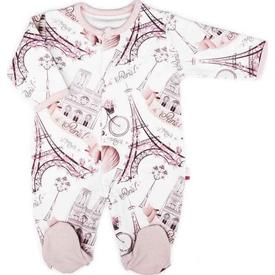 Baby Center S85102 Paris Patikli Tulum Somon 0-3 Ay (56-62 Cm) Bebek Tulumu