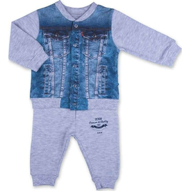 Baby Center S94739 2'li Kot Takım Gri 6-9 Ay (68-74 Cm) Erkek Bebek Takım
