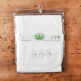 Kitikate S75530 Organik Penye Battaniye Tek Kat Beyaz Yorgan