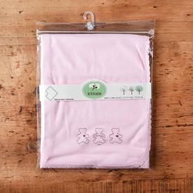 Kitikate S75530 Organik Penye Battaniye Tek Kat Pembe Bebek Battaniyesi