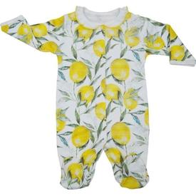 Baby Center S64565 Dj Gül Baskılı Patikli Tulum Sarı 0 Ay (50-56 Cm) Bebek Tulumu