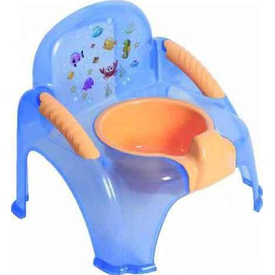 Sevi Bebe 1978 Seffaf Sandalye Bebek Lazımlık Mavi Tuvalet Eğitimi