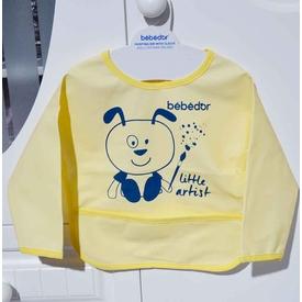Bebedor 6288 Kollu Boyama Önlüğü Sarı Mama Önlüğü