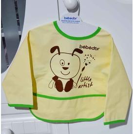 Bebedor 6288 Kollu Boyama Önlüğü Sarı-kahverengi Mama Önlüğü