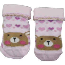 Artı Çorap Artı K44020 Miniy Baby Kıvrık 2li Soket Bebek Çorabı 0-6 Ay Kız Bebek Çamaşırı