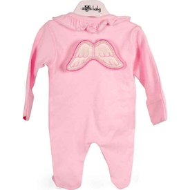 Angels Baby Melek Kanatlı  Pembe 0-3 Ay (56-62 Cm) Bebek Tulumu