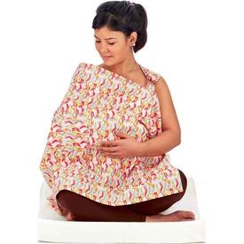 Babyjem 323 Cepli Emzirme Önlüğü Kırmızı Bebek Besleme