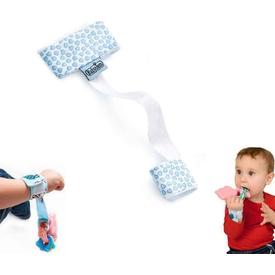 Babyjem Art-308 Çıngırak Tutucu Mavi Bebek Besleme