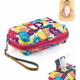 Babyjem Art-369 Bebek Alt Açma Seti Çantası Renkli Alt Açma Minderi