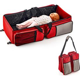 Babyjem Art-392 Katlanır Pratik Bebek Seyahat Yatağı Kırmızı Park Yatak