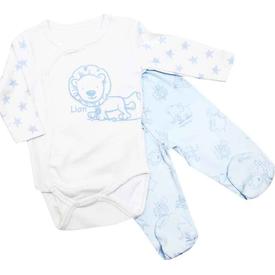 Premom Pre1359a Hayvanlar Alemi Kruvaze 2li Bebek Takımı Ekru 0-3 Ay (56-62 Cm) Erkek Bebek Takım