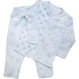 Premom 1072y Hayvanlar Alemi Bebek Pijama Takımı Mavi 18-24 Ay (86-92 Cm) Erkek Bebek Pijaması
