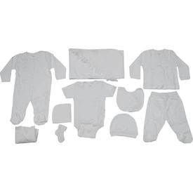 Aziz Bebe 10114 Bebek 10 Lu Hastane Çıkış Seti Ekru 0-3 Ay (56-62 Cm) Kız Bebek Hastane Çıkışı