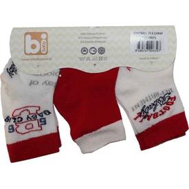 Bibaby 68075 Futbol 3 Lü Çorap Kırmızı Erkek Bebek Çamaşırı
