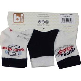 Bibaby 68075 Futbol 3 Lü Çorap Siyah Erkek Bebek Çamaşırı