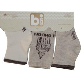 Bibaby 68103 London 3 Lü Çorap Ekru Erkek Bebek Çamaşırı