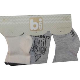 Bibaby 68103 London 3 Lü Çorap Gri Erkek Bebek Çamaşırı
