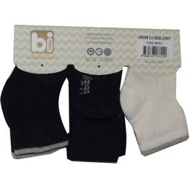 Bibaby 68103 London 3 Lü Çorap Siyah Erkek Bebek Çamaşırı