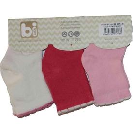 Bibaby 68104 Paris 3 Lü Çorap Pembe Kız Bebek Çamaşırı