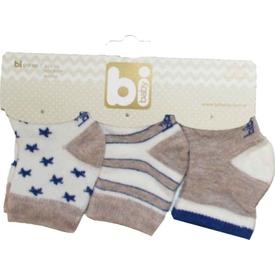 Bibaby 68107 Yıldızlar 3 Lü Çorap Kahverengi Erkek Bebek Çamaşırı