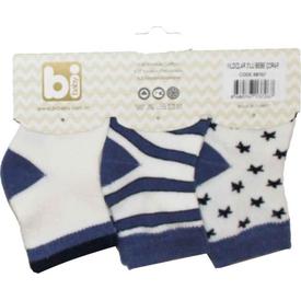 Bibaby 68107 Yıldızlar 3 Lü Çorap Lacivert Erkek Bebek Çamaşırı