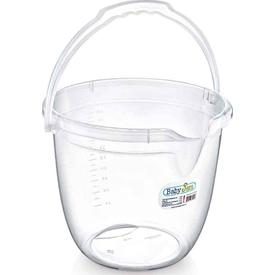 Babyjem Art-331 Bebek Banyo Kovası Şeffaf Beyaz Maşrapa & Kova