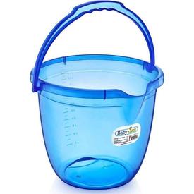 Babyjem Art-331 Bebek Banyo Kovası Şeffaf Mavi Maşrapa & Kova