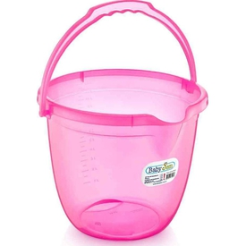 Babyjem Art-331 Bebek Banyo Kovası Şeffaf Pembe Maşrapa & Kova
