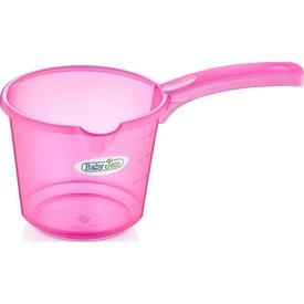 Babyjem Art-332 Bebek Banyo Maşrapa Şeffaf Pembe Maşrapa & Kova