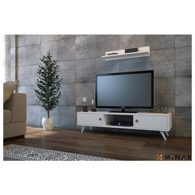 Minar Aspen Tv Ünitesi - Beyaz TV Ünitesi