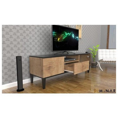 Minar Azure Tv Ünitesi & Konsol - Sümela/Parlak Siyah TV Ünitesi