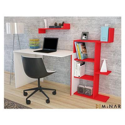 Minar Breed Çalışma Masası - Beyaz/Kırmızı Mobilya