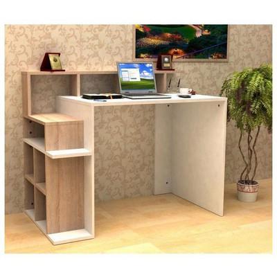 Minar Fiorenza Calısma Masası - Beyaz/Sonomo Mobilya