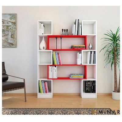 Minar Hope  - Beyaz/Kırmızı Kitaplık
