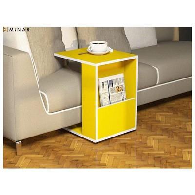 Minar Jour Yan Sehpa - Koyu Sarı Sehpa & Keson