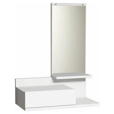 Minar Mode Aynalı Dresuar - Beyaz Kitaplık