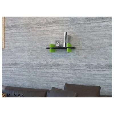 Minar Mira Duvar Rafı - Siyah - Yeşil Mobilya